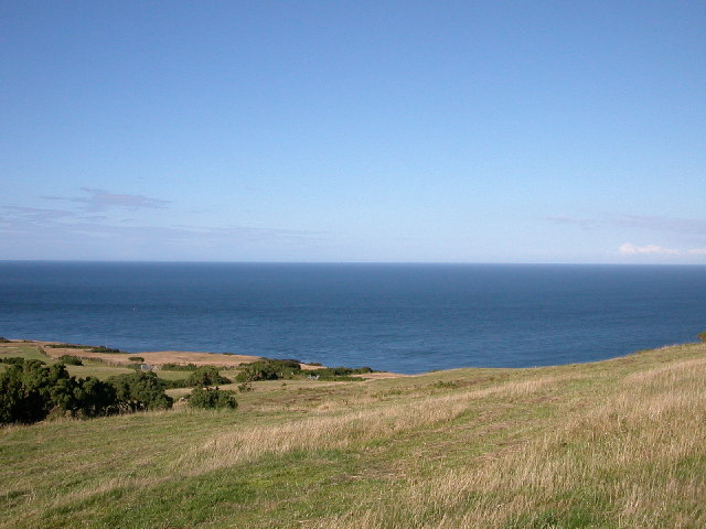 Freshwater Bay and Porth Y Corwgl