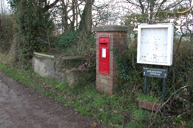 Milk stand and postbox at Brushford Cross