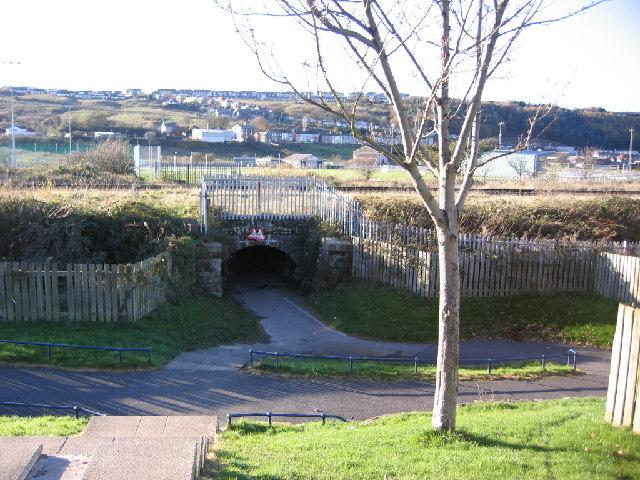 C2C Cycleway under the railway at Corckickle