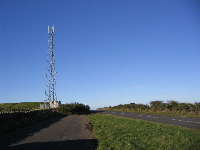 Transmitter receiver mast at Scilly Bank
