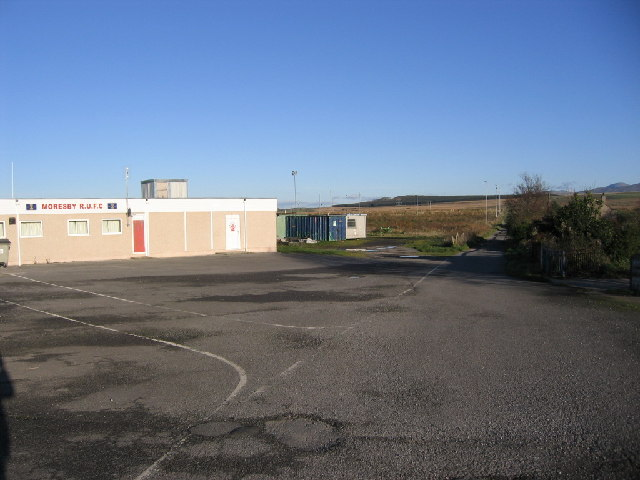 Lane beside rugby clubhouse