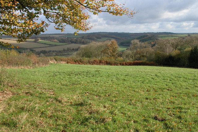 The Taw valley viewed from Trenchard Farm