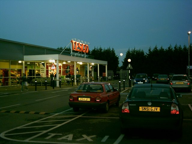 Full Moon Over Tesco