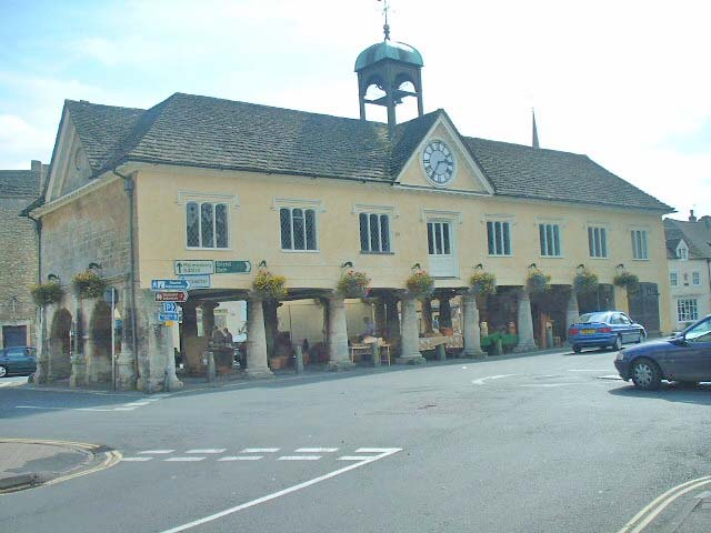 Tetbury Glos, Town Hall & Market Place