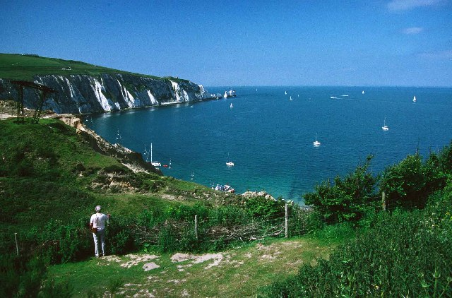 Alum Bay with Chairlift and the Needles