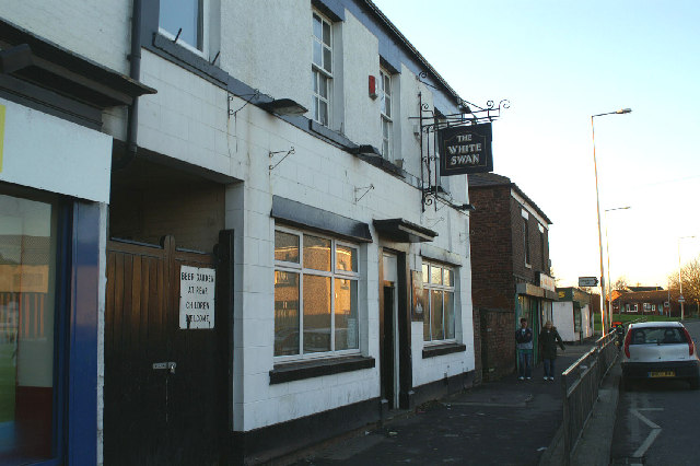 The White Swan pub, Warrington Road, Lower Ince