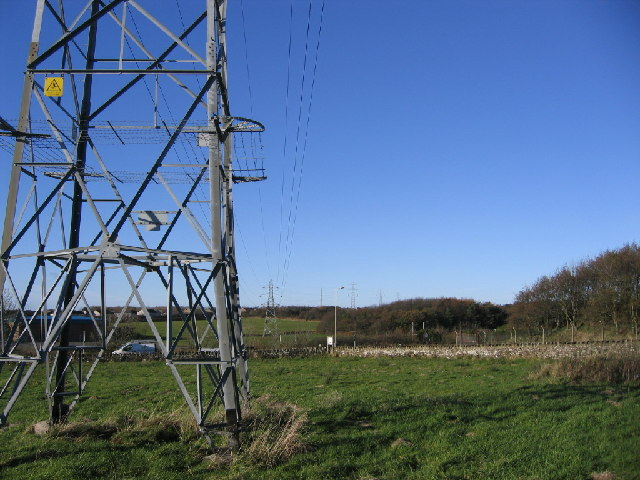 Powerline over the road.