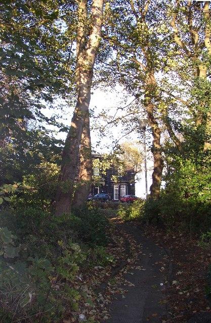 Pedestrian entrance to Dryfield House, Healey, Batley