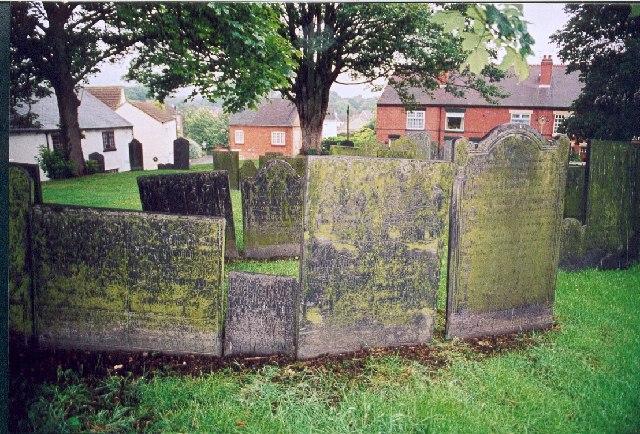 Gravestones at Shepshed