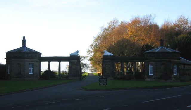 Blagdon Hall Gates
