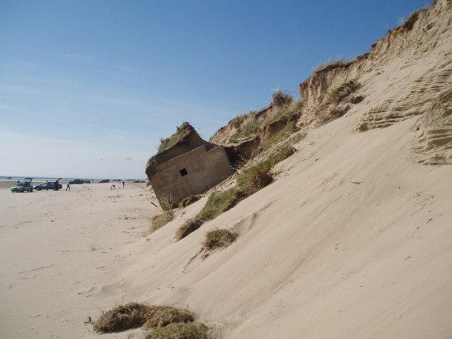 Erosion of Sand Dunes on Blackrock  Sands