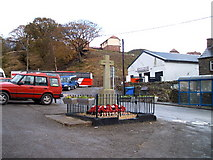 SO0900 : Bedlinog War Memorial and rugby club by nantcoly