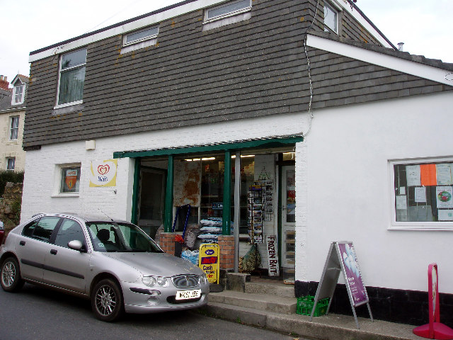 Post Office and village shop at Porthcurno