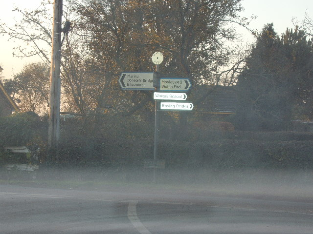 Road Junction in North Shropshire
