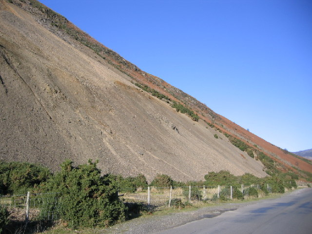 Screes off side of minor road.