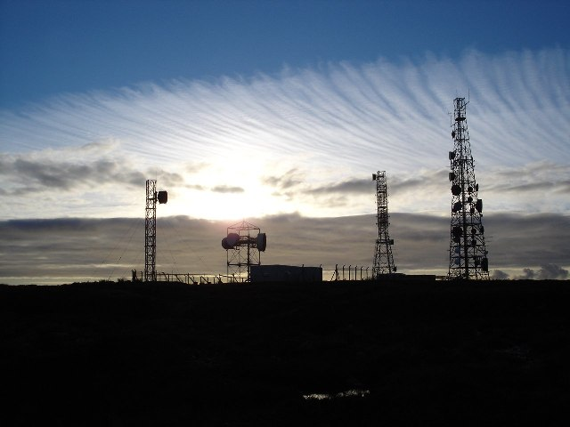 Masts on Maol Breac