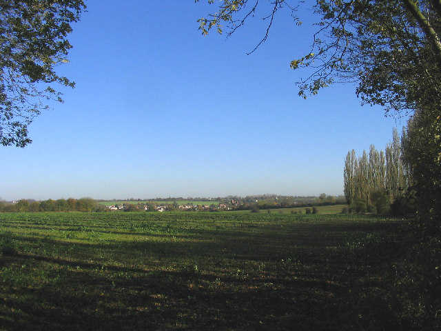 A distant view of Moreton from Bobbingworth
