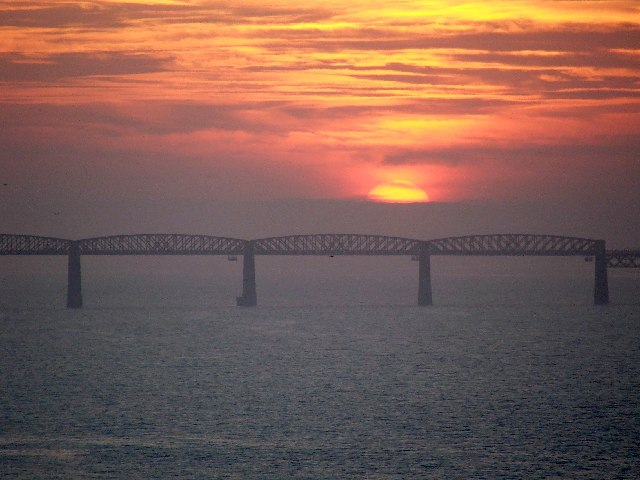 Sunset over Tay Rail Bridge