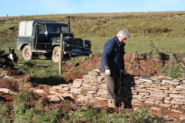 Exmoor: drystone walling at Honeymead Two Gates