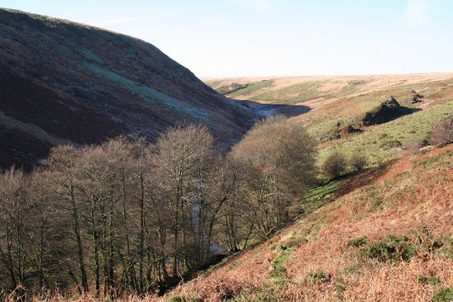 Exmoor: The Exe valley near Warren Bridge