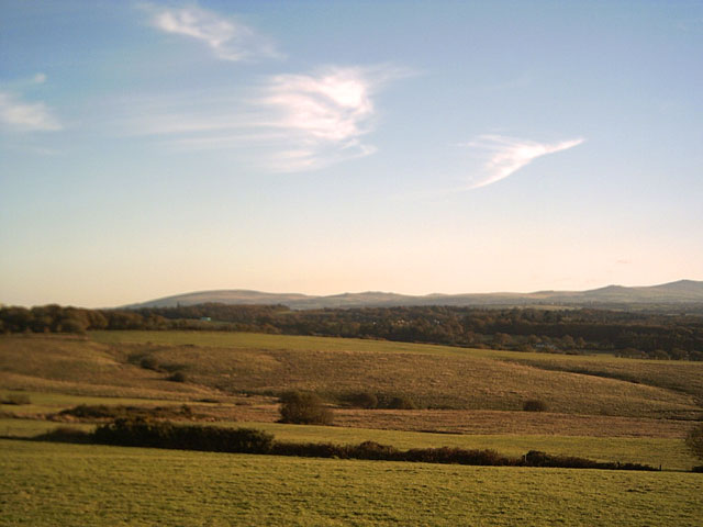 View from Hatherleigh Moor towards Dartmoor