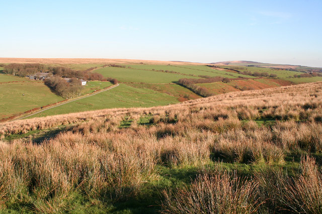 Exmoor: above Three Combe Hill