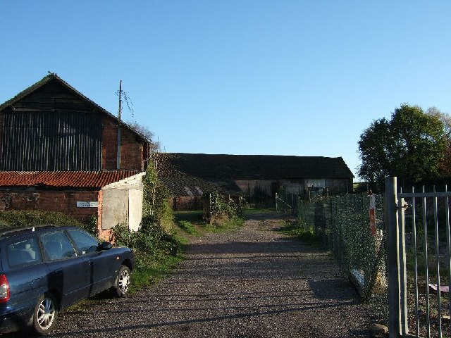 Farm buildings and track, Woodbury, Devon