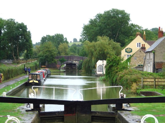 Seend Wharf Bridge seen from Seend Lock Bridge