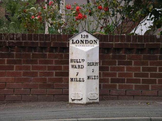 Milepost on Kedleston Road, Allestree