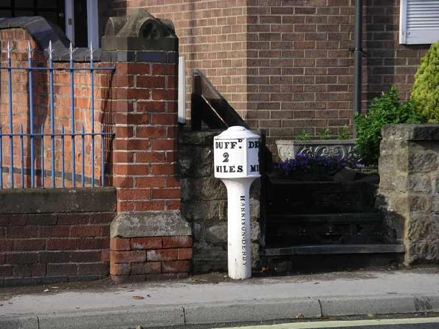 Milepost on Duffield Road, Allestree
