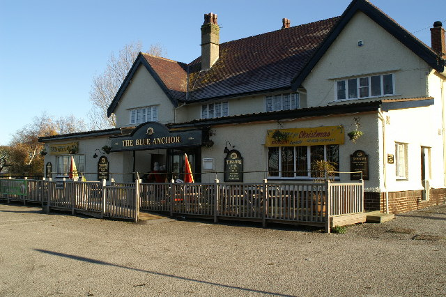 The Blue Anchor, A585, north of M55
