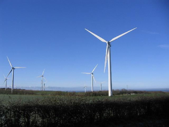 Winscales moor turbines.