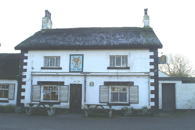 The Eagle and Child, thatched pub, Wharles