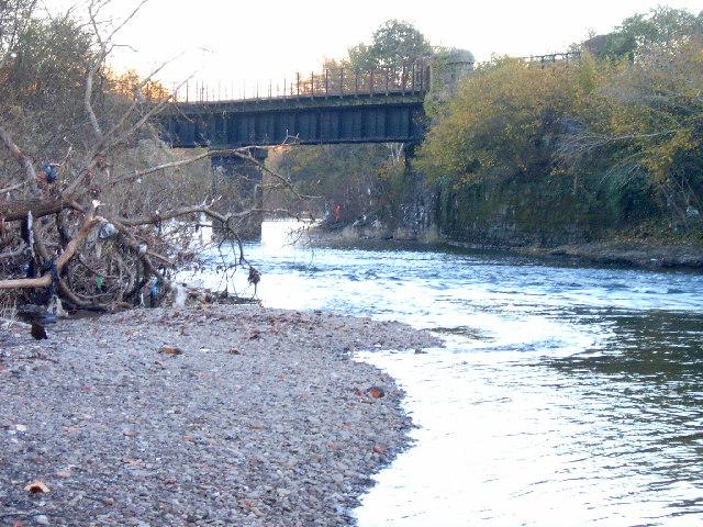 Disused railway bridge near Hailey Park