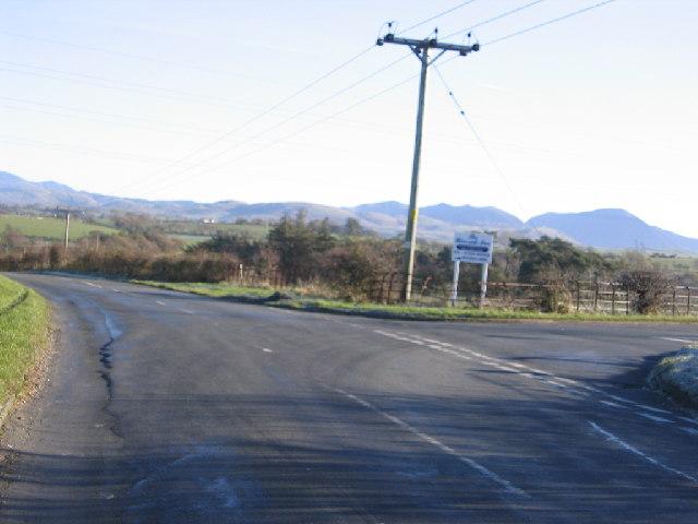 Road junction near Branthwaite.