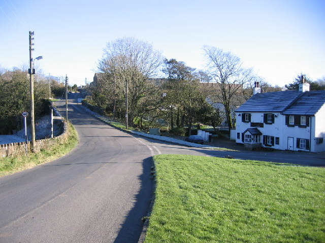 Road junction in Branthwaite.