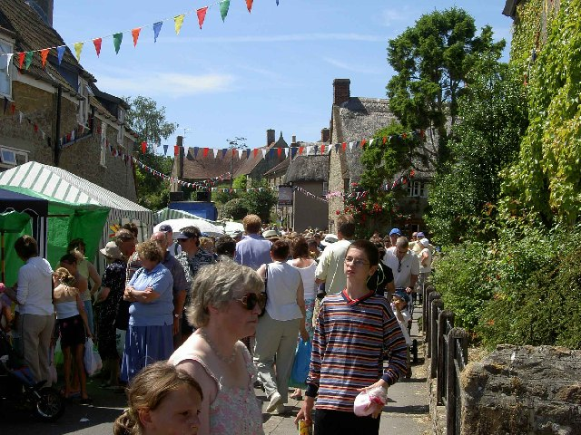 Yetminster High Street during the annual fair day