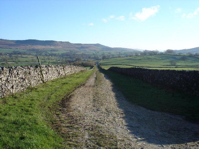 Bridleway towards Hetton
