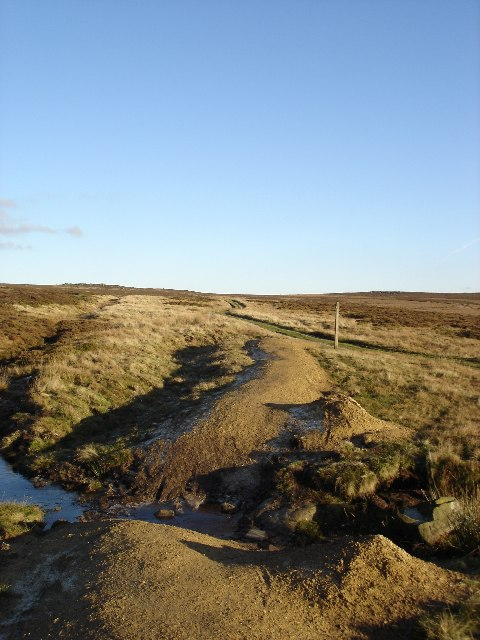 Junction of Bridleway and private track