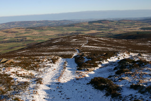 Moorland track on Peter Hill