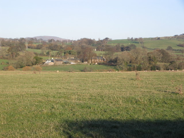 Farmland near river Cocker.