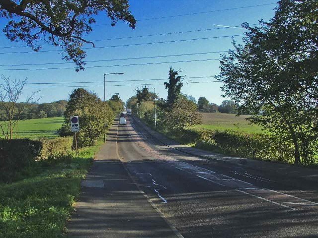 Cuffley Hill, B156, looking east