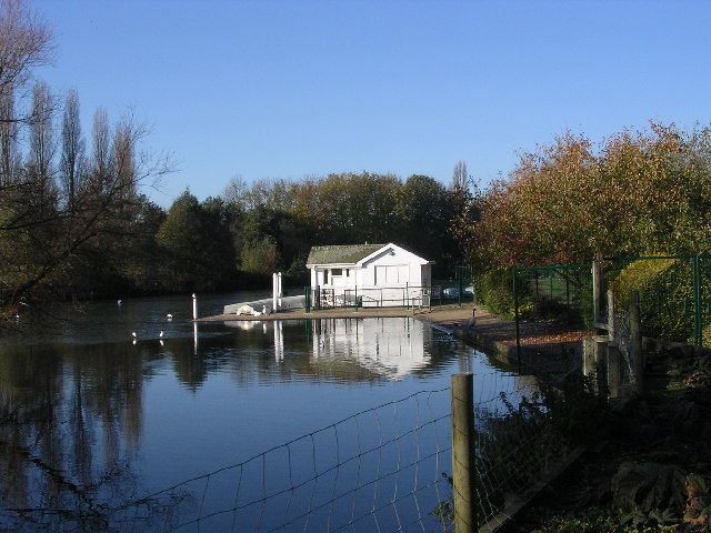Boathouse on Stanborough Lakes.  Welwyn Garden City.