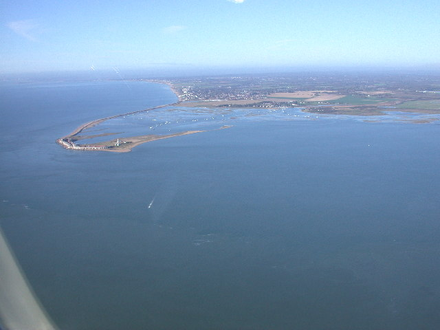Hurst Castle and keyhaven from East