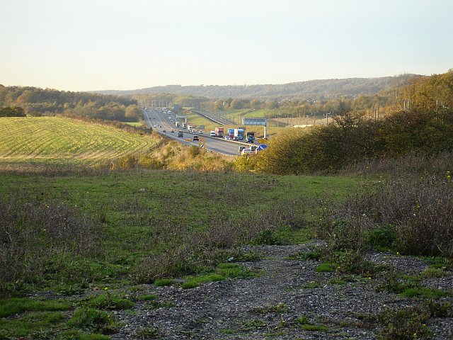 M20 and CTRL (Channel Tunnel Rail Link) from Crismill Lane