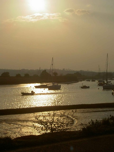 Exeter Canal at sunset