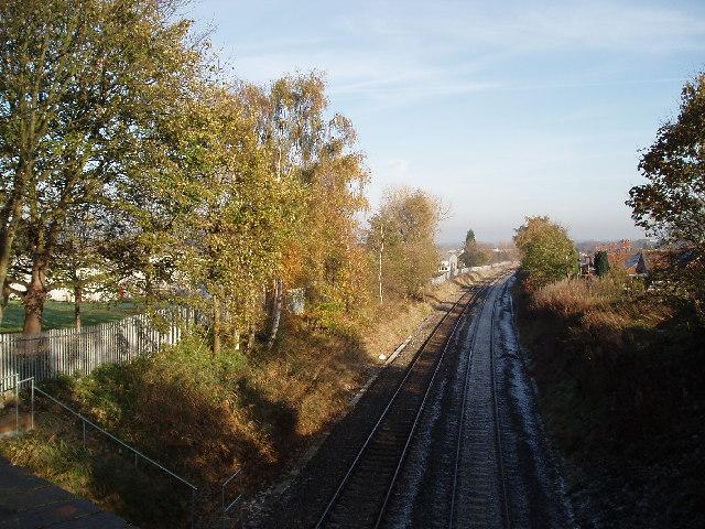 View NE from Parkgate Lane Railway Bridge