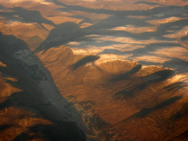 Aerial photograph over Glen Clova and Loch Brandy