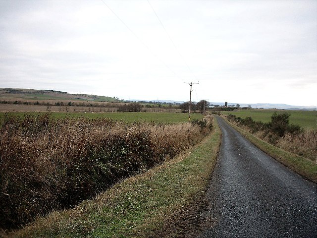 Single track road to Nether Finlarg