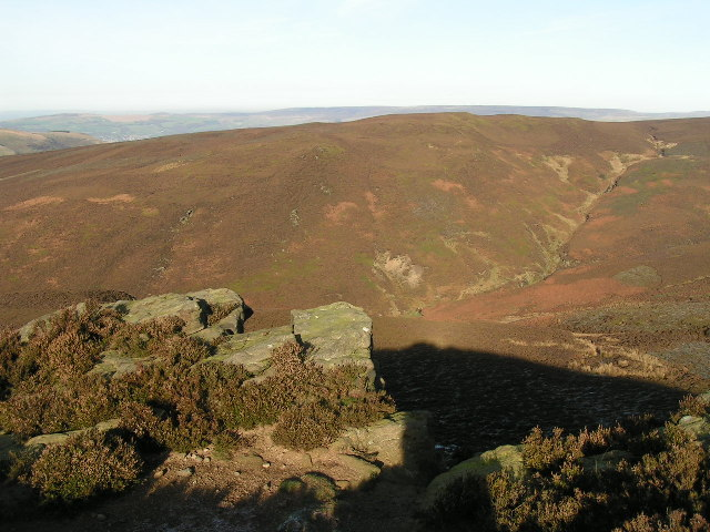 Burnt Hill and Hollingworth Clough from The Knott
